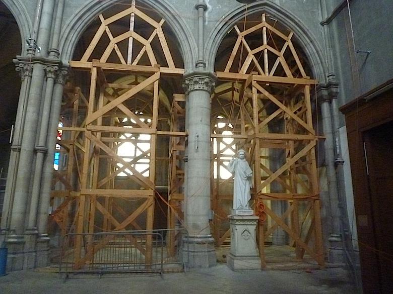 Echaffaudage Église Saint Bernard 2