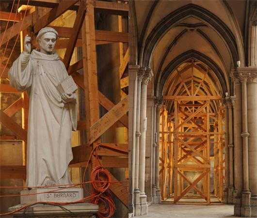 Echaffaudage Église Saint Bernard