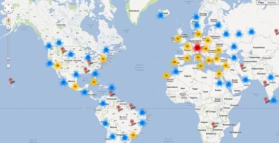 carte friche abandonné europe monde