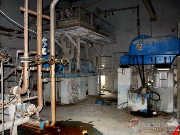 station d'épuration abandonnée