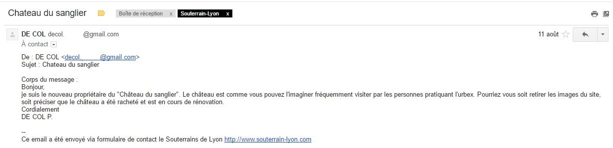 email de col chateau sanglier