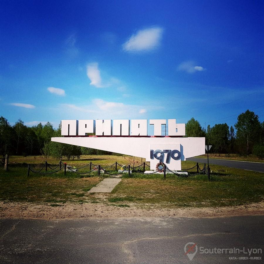 Pripyat Entrée de la Ville