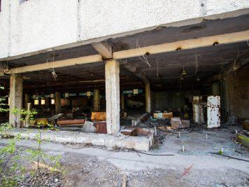 Supermarché Pripyat après la catastrophe